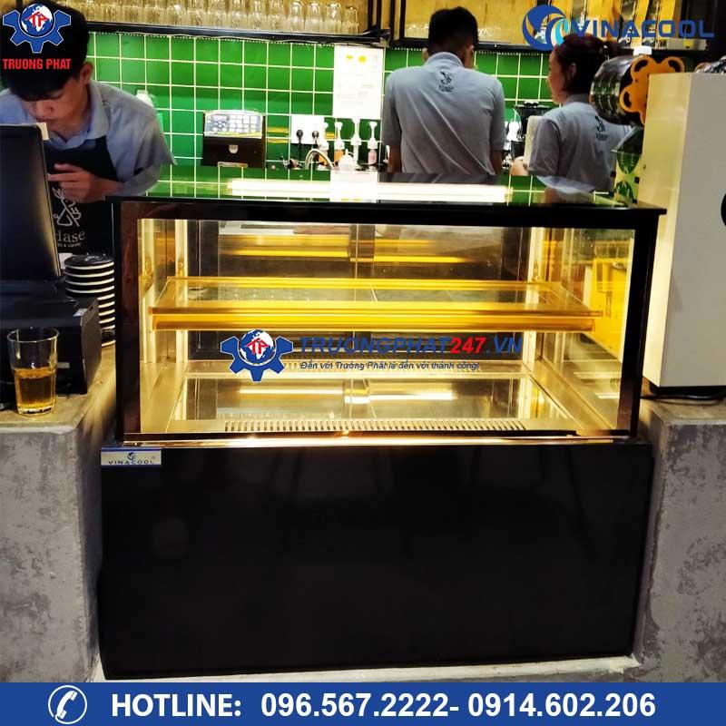 Tủ trưng bày bánh kem loại nhỏ 90cm để bàn vuông