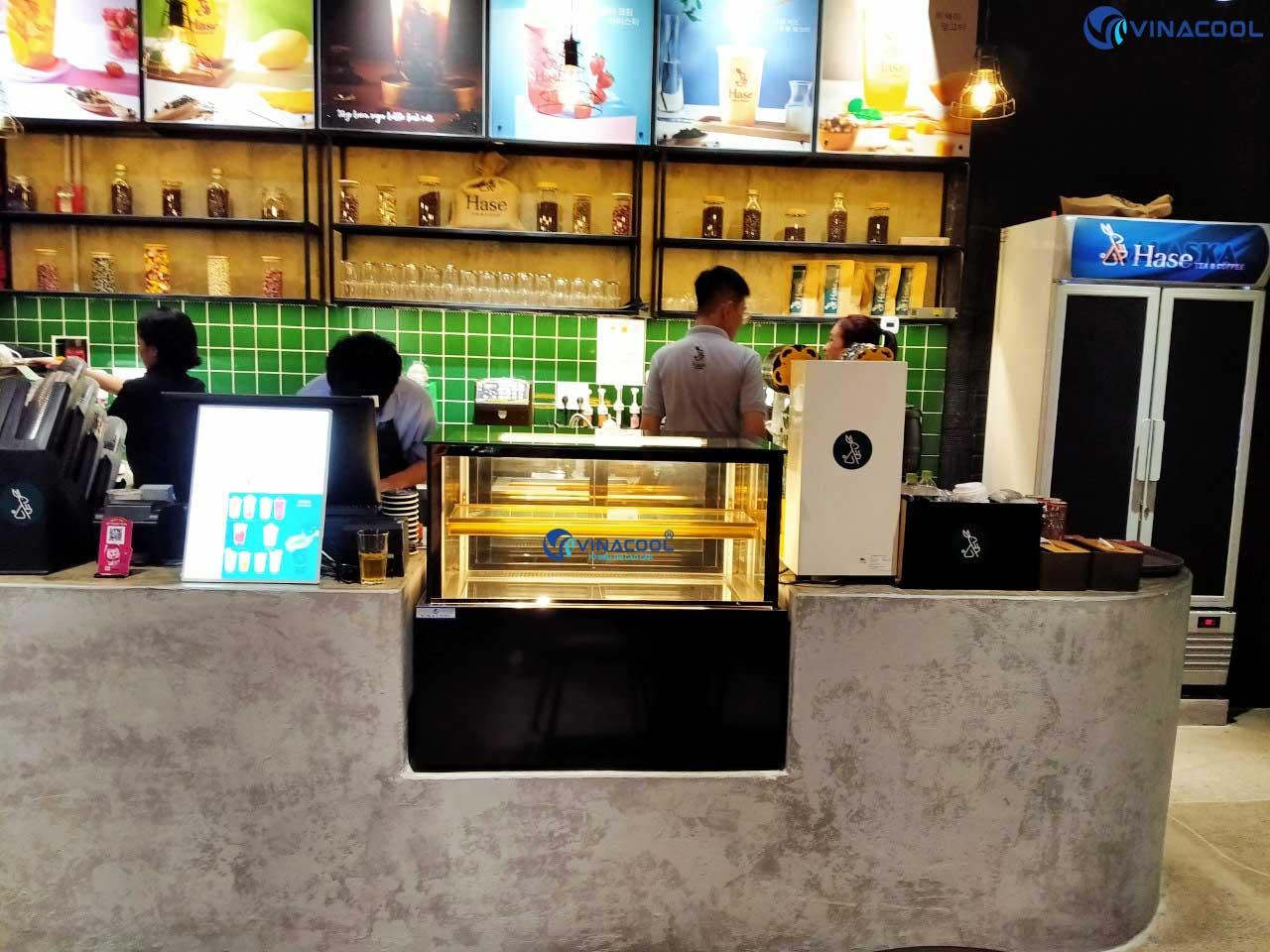 Tủ bảo quản bánh ngọt mini quán cafe