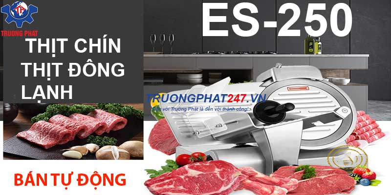 banner máy thái thịt chín es-250