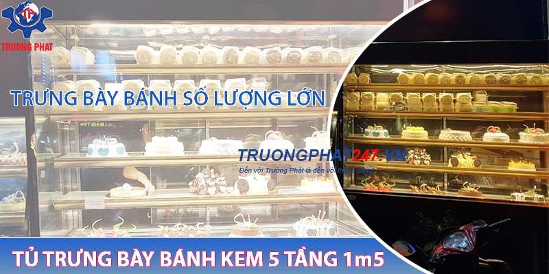 tủ trưng bày bánh kem kính đưng DL-1500