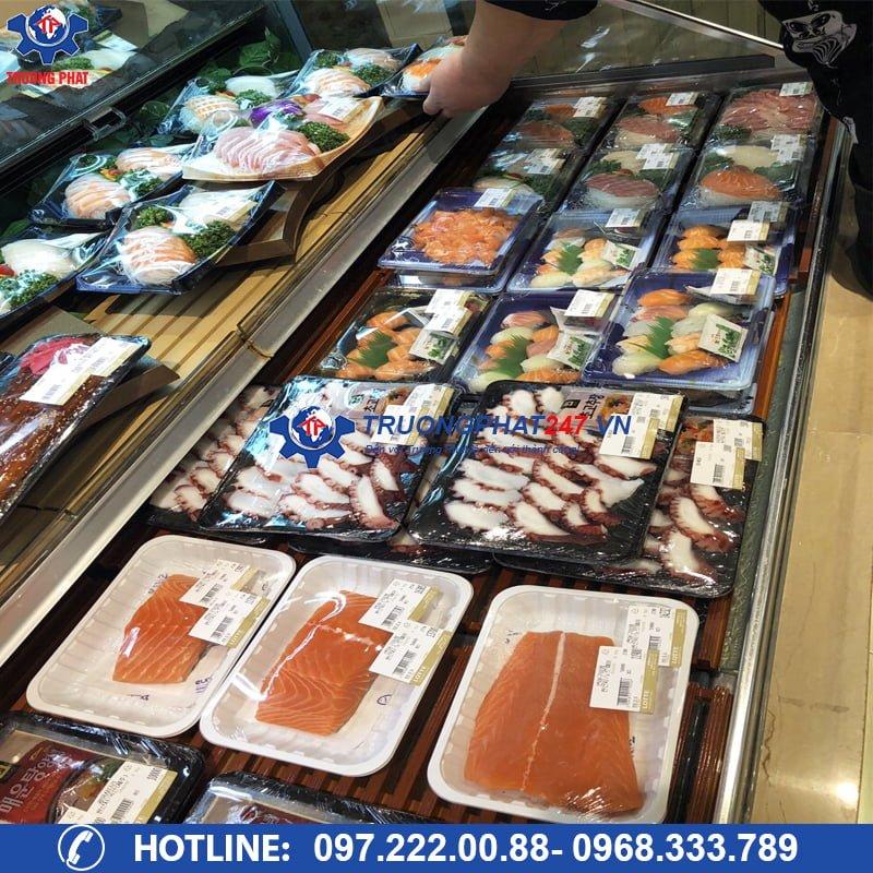 tủ mát trưng bày thịt cá