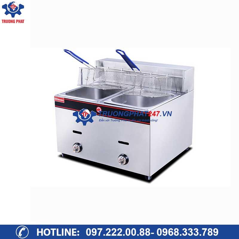 Bếp chiên nhúng đôi dùng gas HGF-72( 2 hộc 2 giỏ)