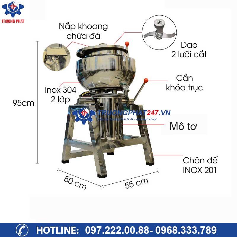 cấu tạo chi tiết máy xay giò chả 5kg