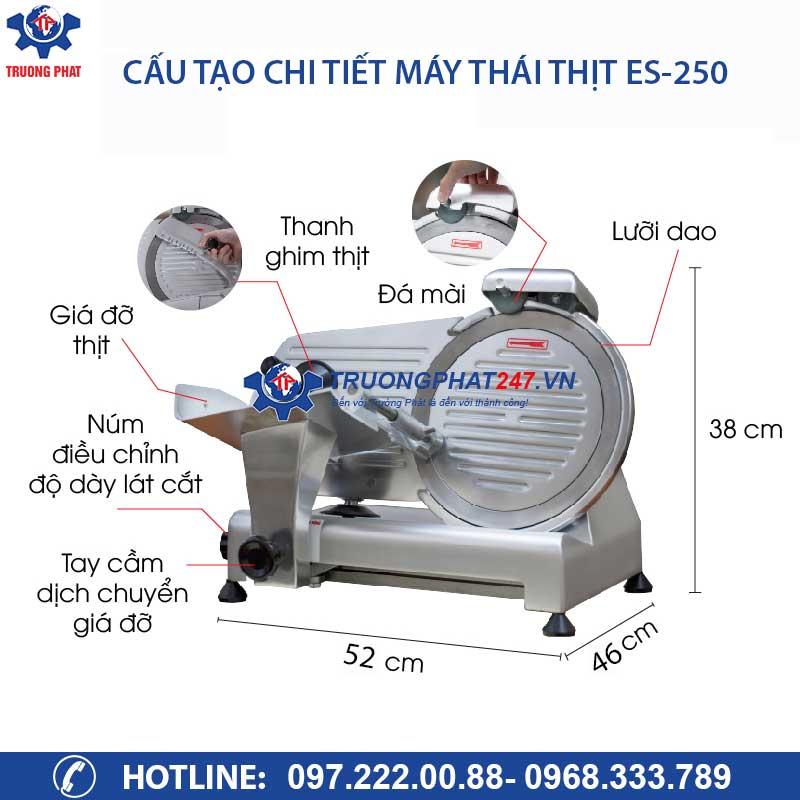 cấu tạo chi tiết máy thái thịt ES-250