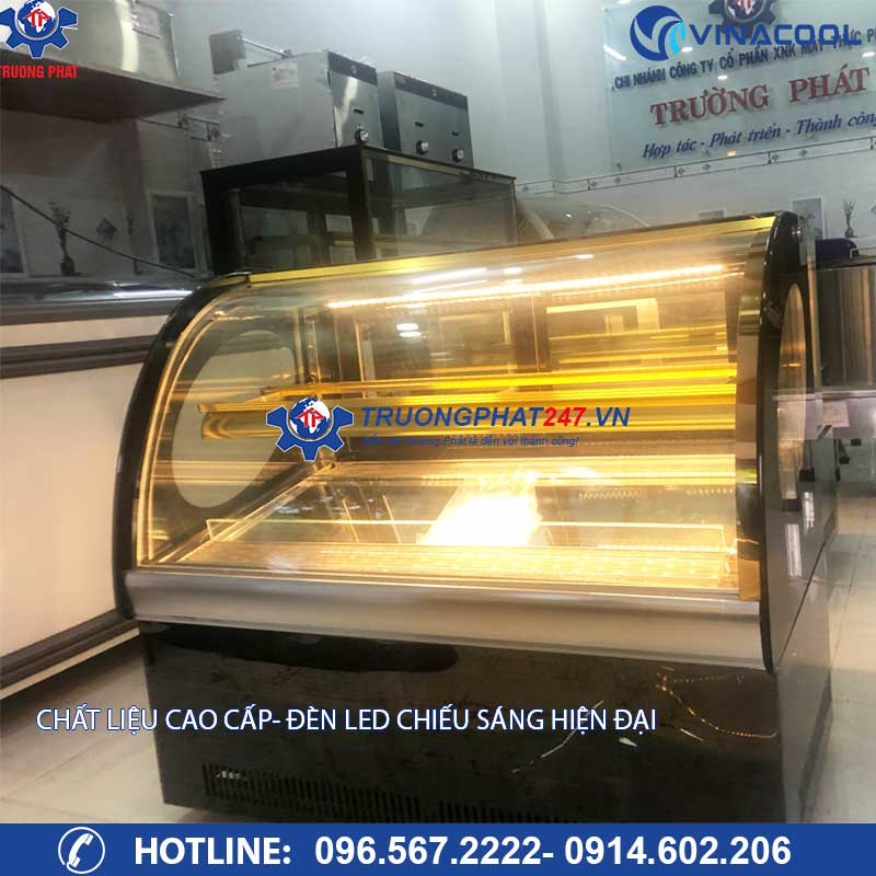 Đèn led tủ trưng bày bánh kem để bàn