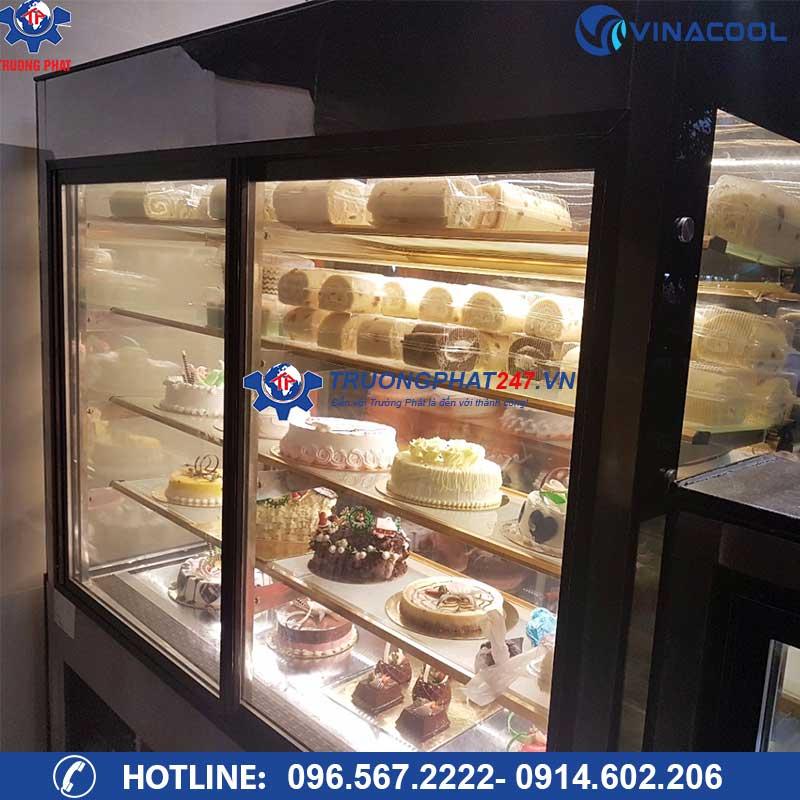 tủ bánh ngọt kính vuông cửa lùa DL-1500