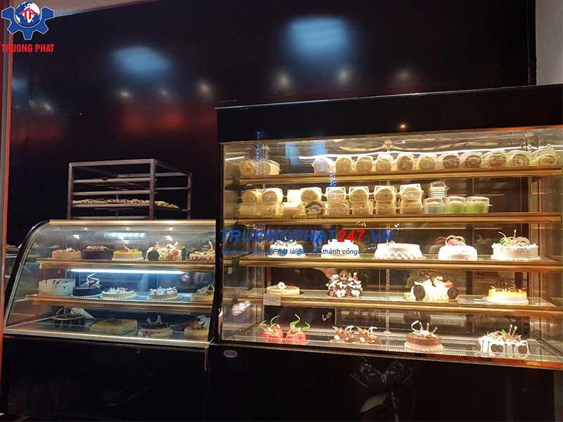 tủ trưng bày bánh ngọt 5 tầng kính vuông DL-1800
