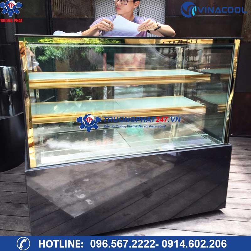 tủ trưng bày bánh kem kính vuông 3 tầng DZA-1500