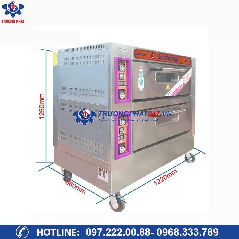 kích thước Lò nướng bánh ngọt 2 tầng 4 khay điện YXD-40C