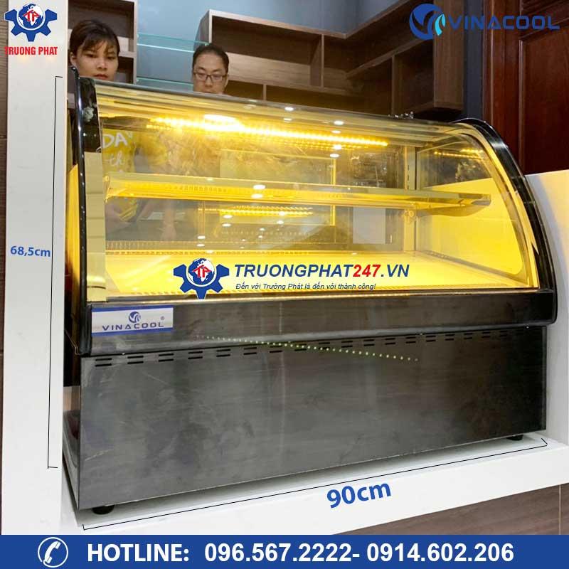 kích thước tủ bánh kem để bàn 90cm
