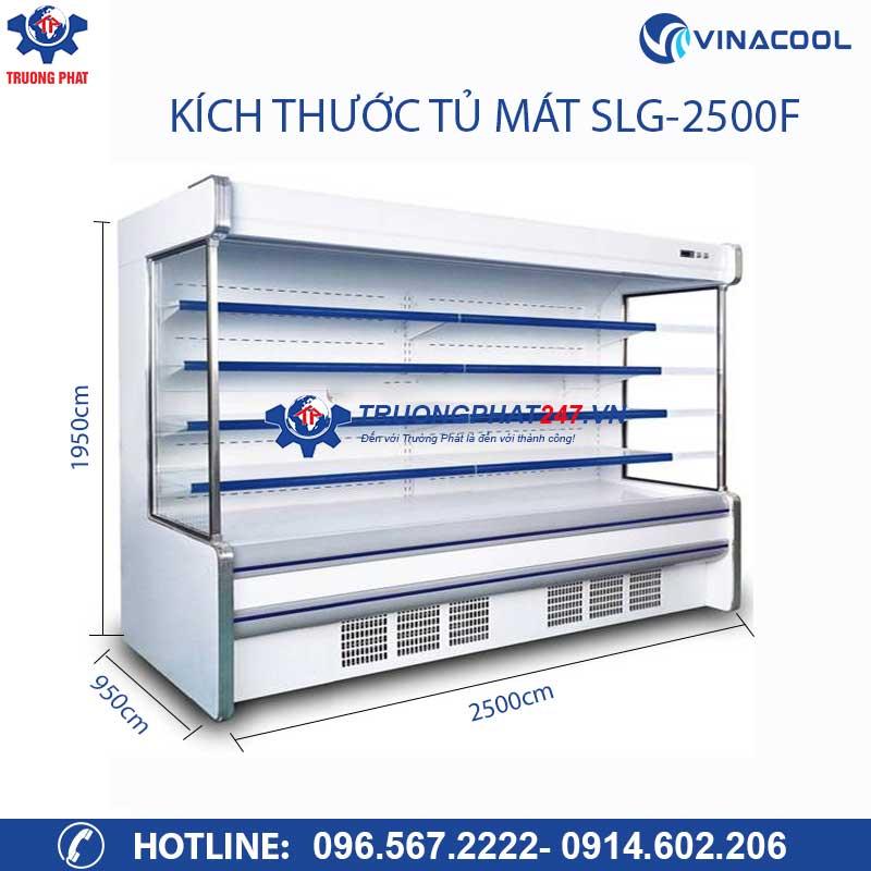 kích thước tủ mát siêu thị SLG-2500F
