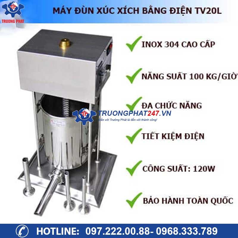 máy nhồi xúc xích bằng điện 20 lít