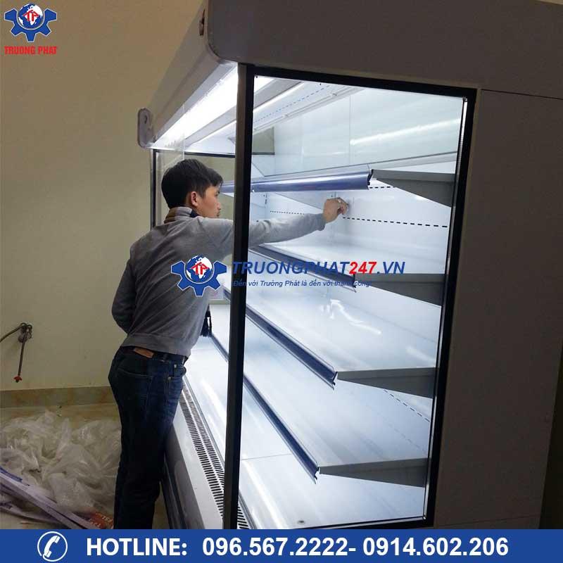Lắp đặt tủ mát trưng bày siêu thị SLG-1500f