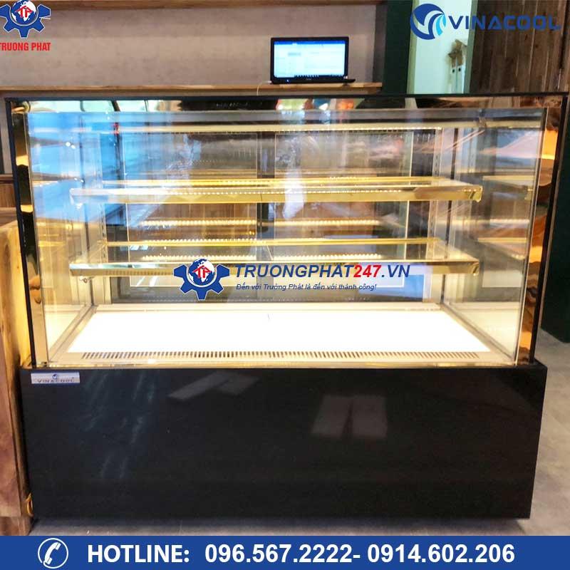 Tủ trưng bày bánh kính vuông 3 tầng DZA-1500 (1,5m)