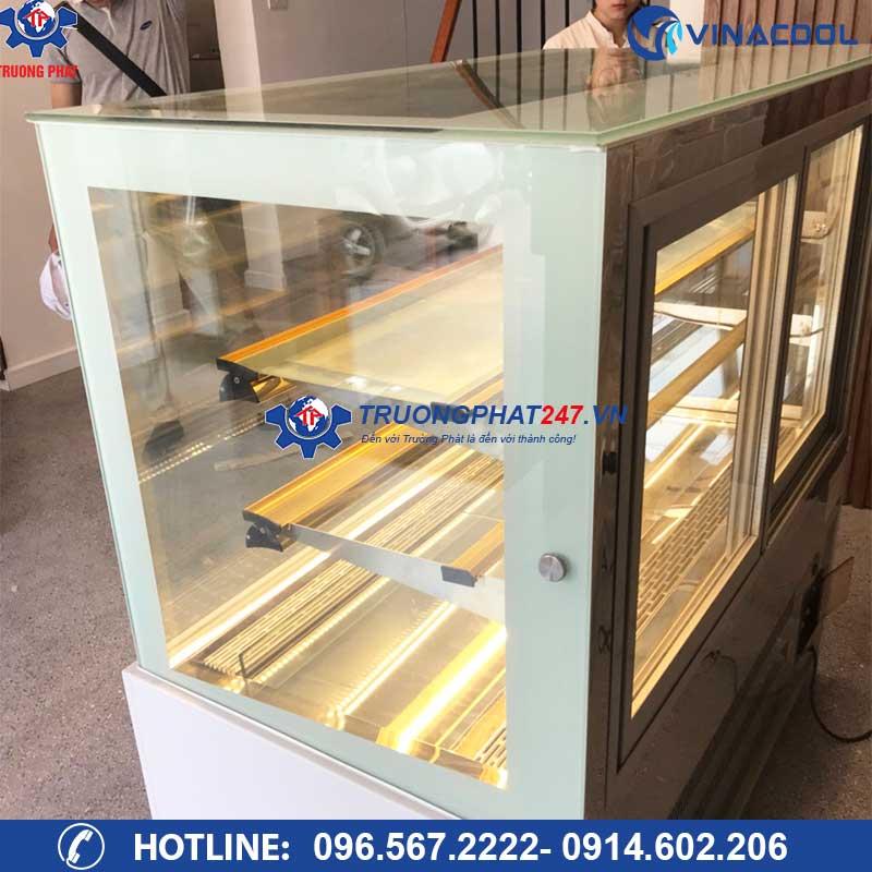 tủ bảo quản bánh kem 3 tầng kính vuông DZA-1500