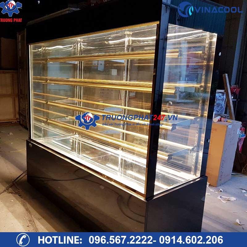 Tủ mát đựng bánh kính vuông 5 tầng DL-1800 ( Dài 1m8)