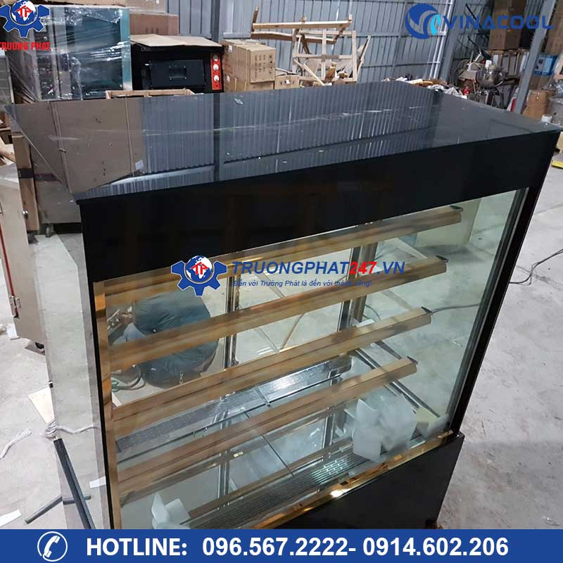 tủ bánh kem kính đứng 5 tầng 1m2