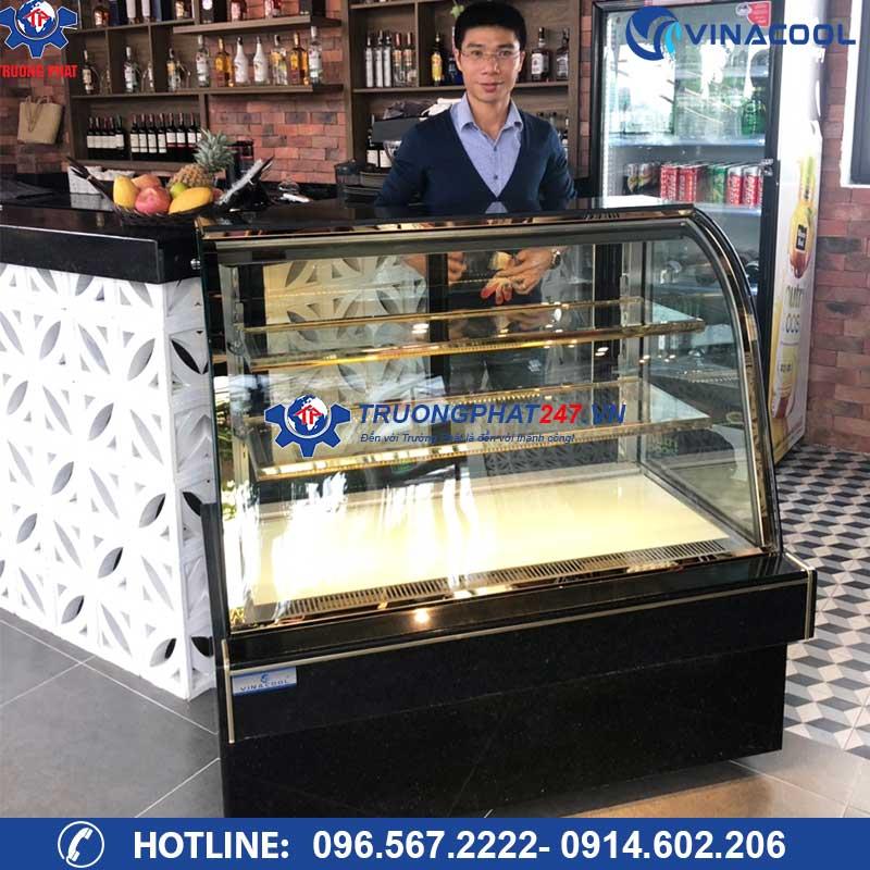 tủ trưng bày bánh kem kính cong 1m5