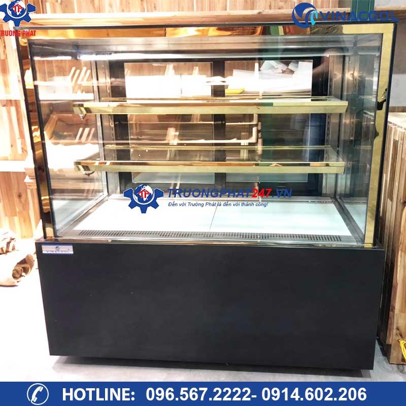 Tủ trưng bày bánh kem 3 tầng kính vuông DZA-1200 (1,2m)