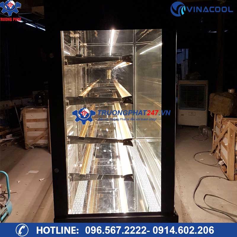 tủ bảo quản bánh kem kính đứng 5 tầng