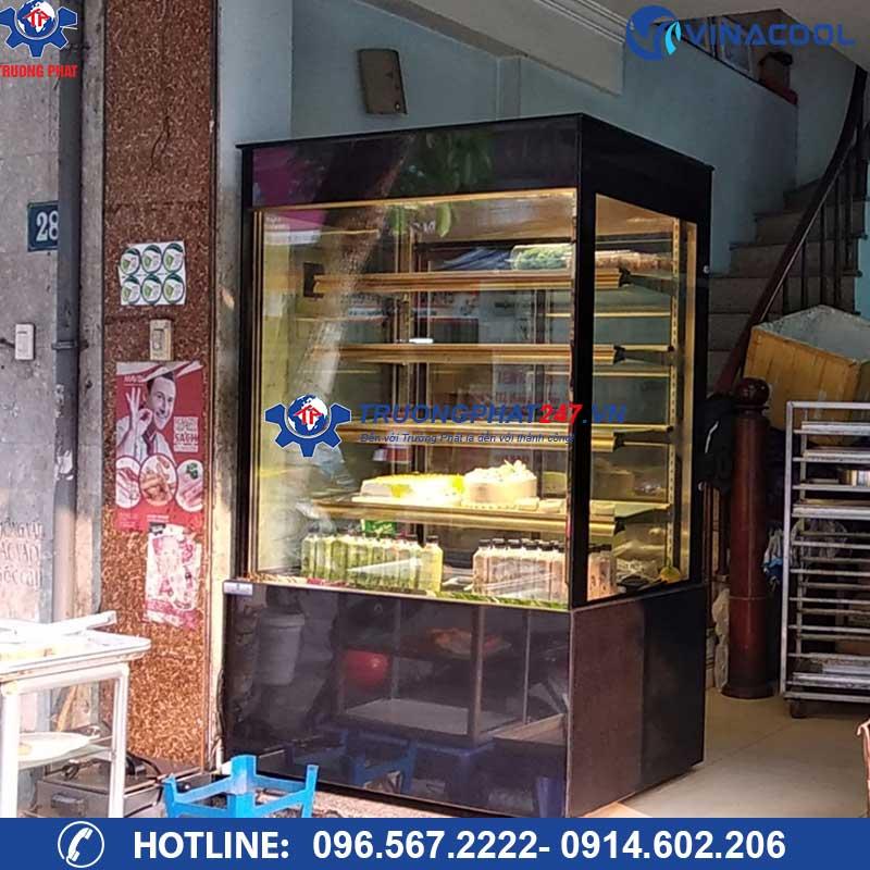 Tủ trưng bày bánh kem 5 tầng kính vuông DL-1200 (Dài 1,2m)