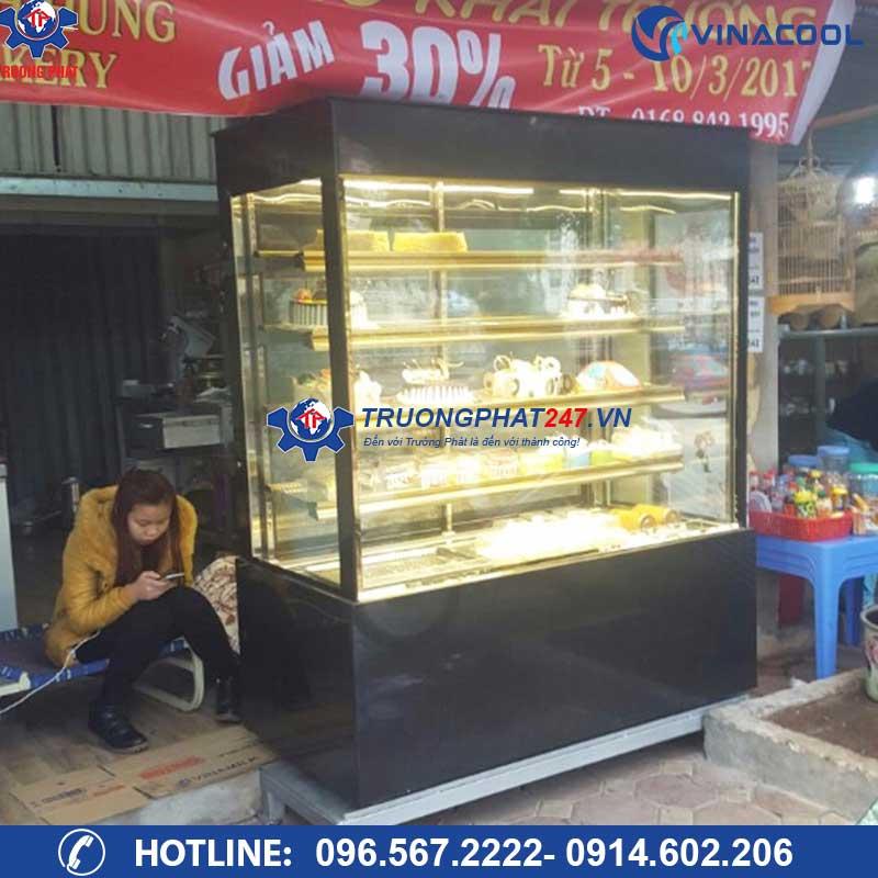 tủ bánh ngọt kính vuông 5 tầng DL-1500