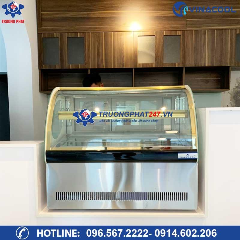 Tủ trưng bày bánh kem để bàn 90cm kính cong