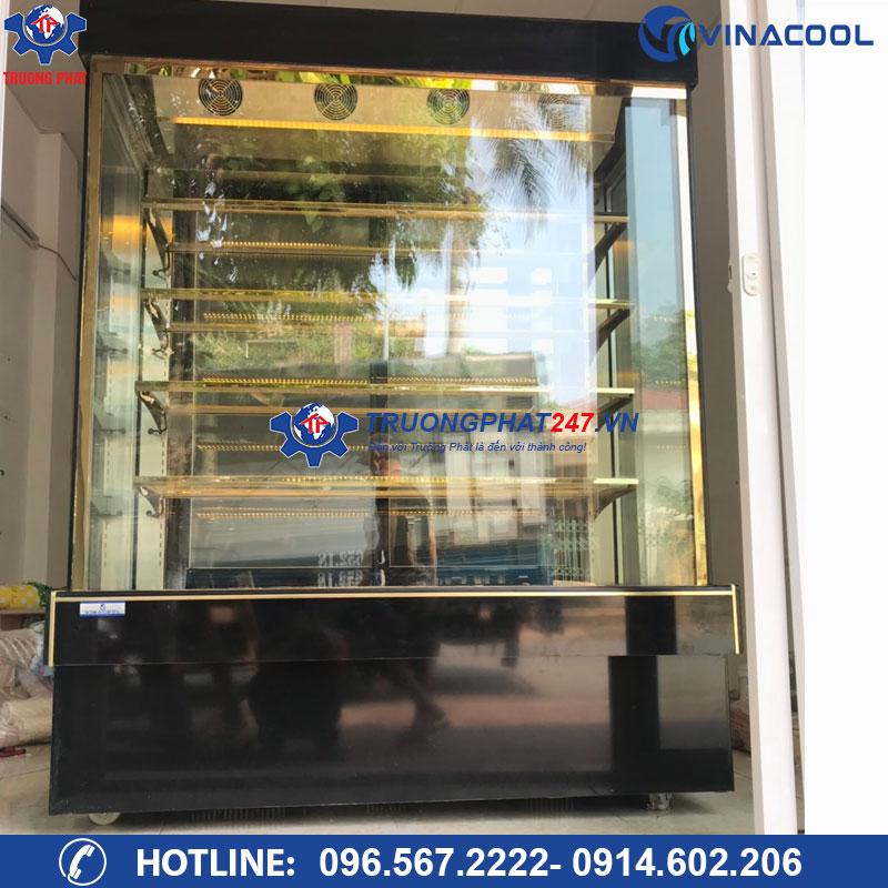 Tủ mát bảo quản bánh ngọt 5 tầng kính vuông DL-1500 (Dài 1,5m)
