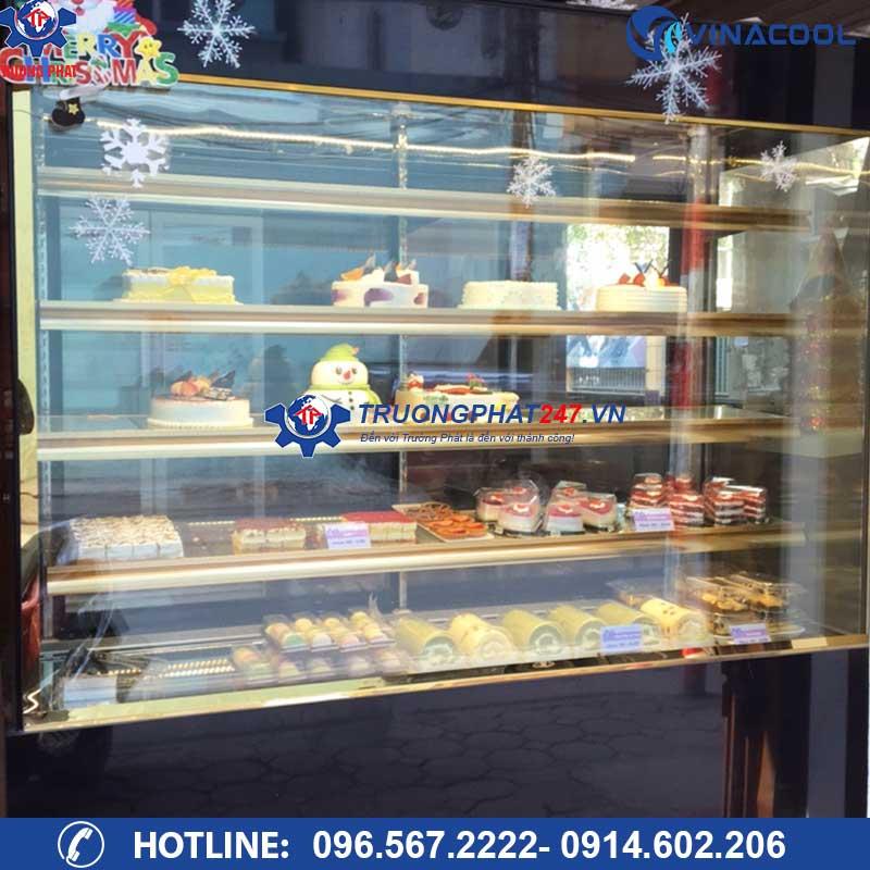 tủ bảo quản bánh kem kính đứng 5 tầng DL-1500
