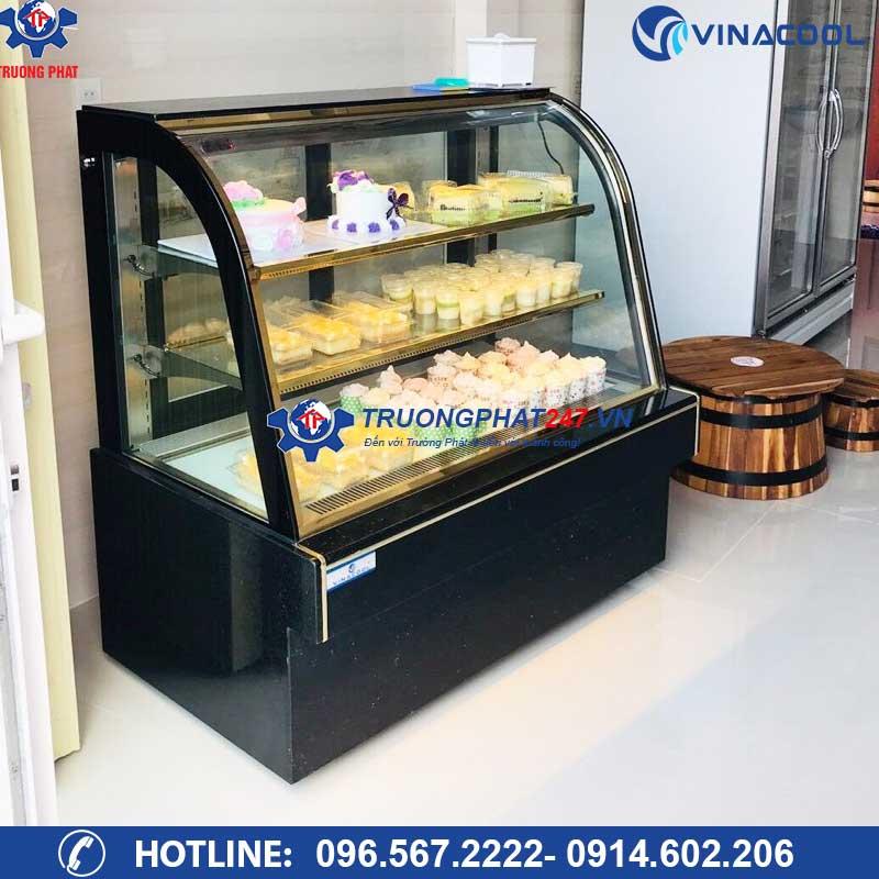 Tủ mát trưng bày bánh kem kính cong 3 tầng DH-1500 (1,5m)