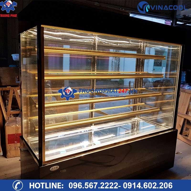 tủ bánh kem 5 tầng kính vuông 1m8