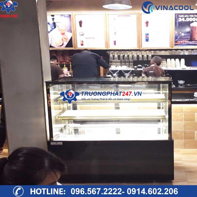 tủ trưng bày bánh kem 3 tầng kính vuông