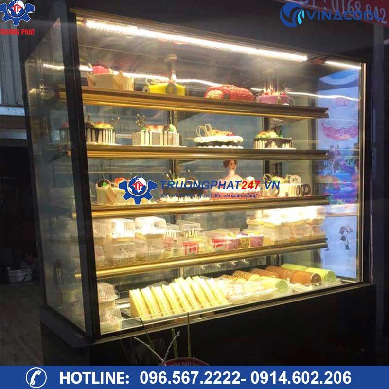 tủ trưng bày bảo quản bánh kem kính vuông DL-1500