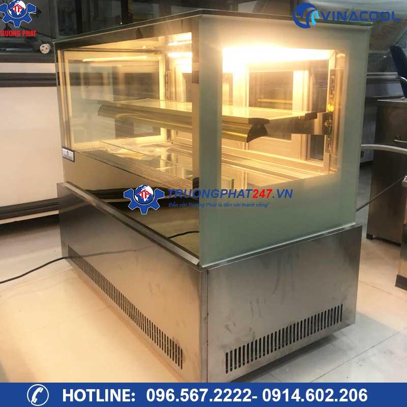 Tủ trưng bày bánh kem để bàn kính vuông TLZ-90