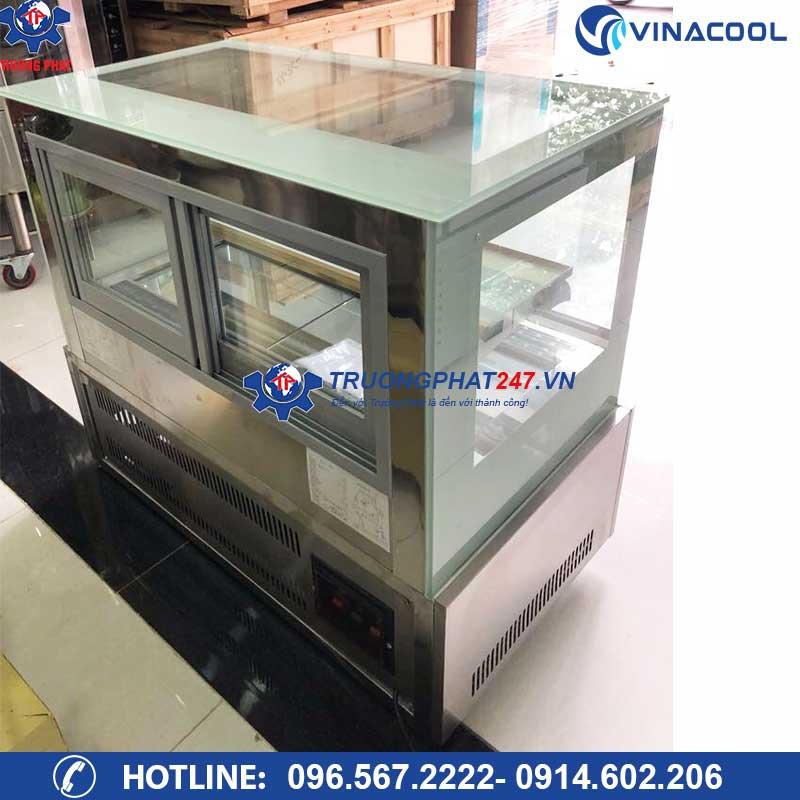 tủ bánh kem kính vuông để bàn TLZ-90
