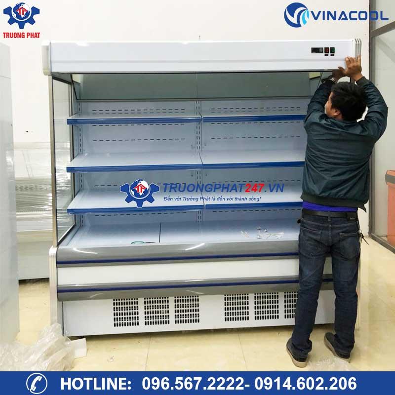 lắp đặt tủ siêu thị 2m