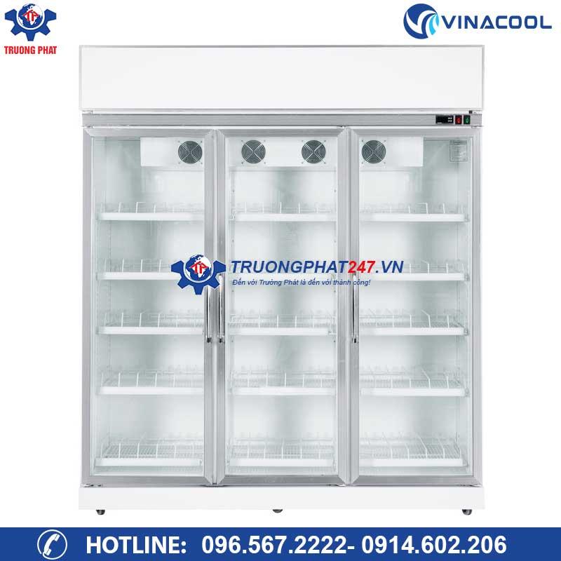Tủ mát 3 cánh kính trưng bày trái cây, nước ngọt SLG-1800FS