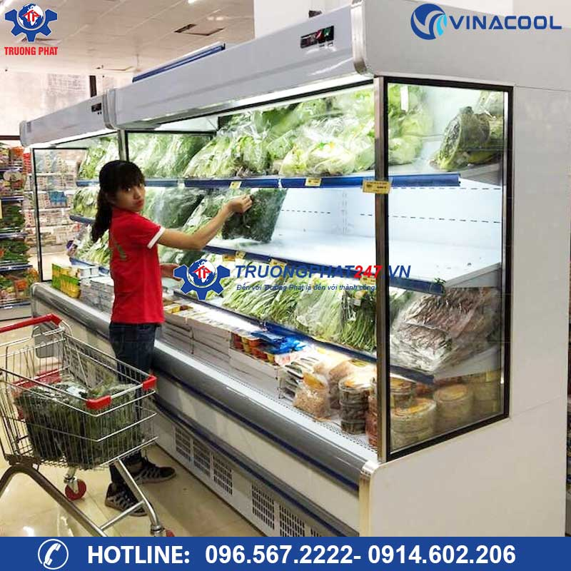 Tủ mát siêu thị trưng bày rau củ quả SLG-2000F (Dài 2m)