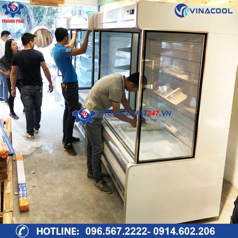 Lắp đặt tủ mát trưng bày rau củ quả SLG-1500F Vinacool