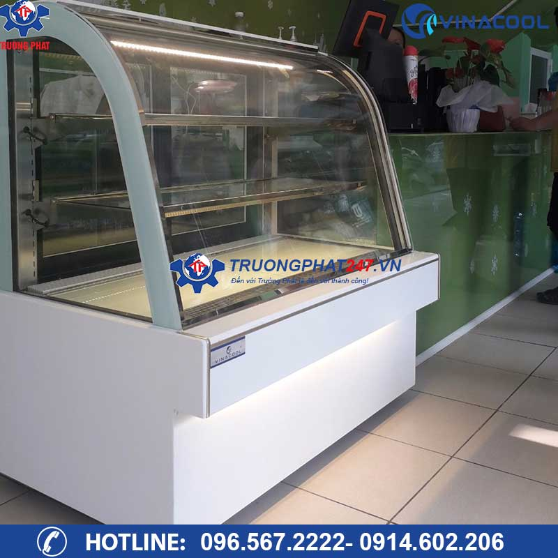 tủ mát đựng bánh kem Vinacool DH-1200 màu trắng