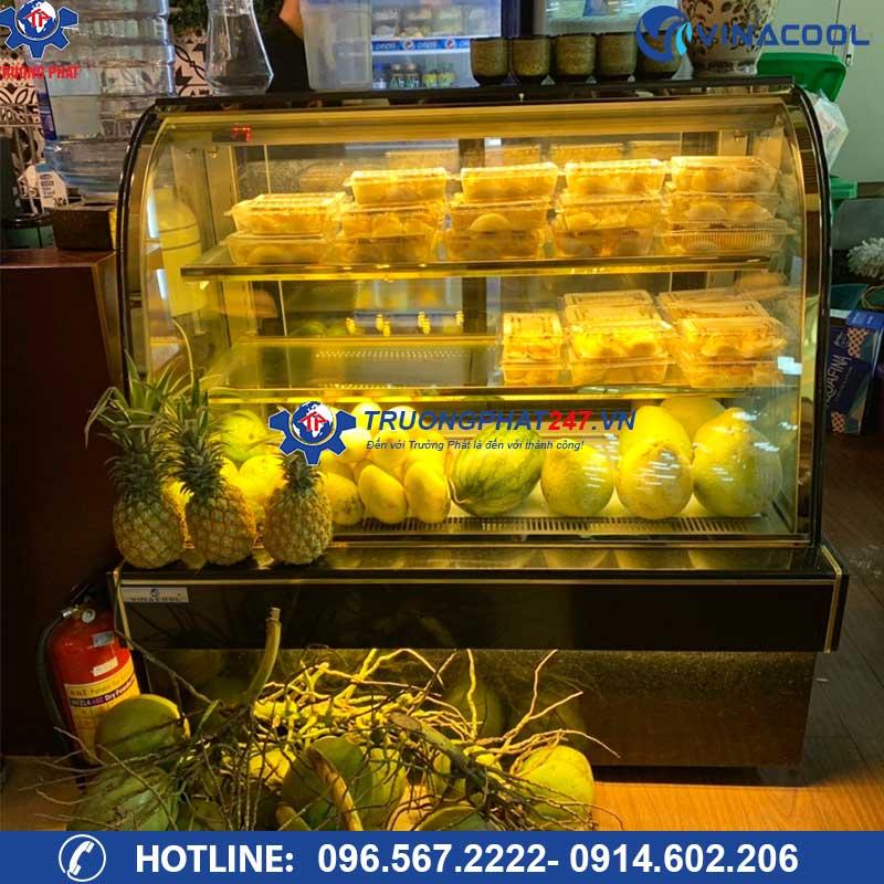 tủ trưng bày bánh kem kính cong dh-1200