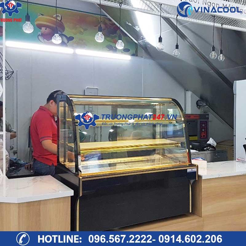 tủ bảo quản trưng bày bánh kem kính cong dh-1500