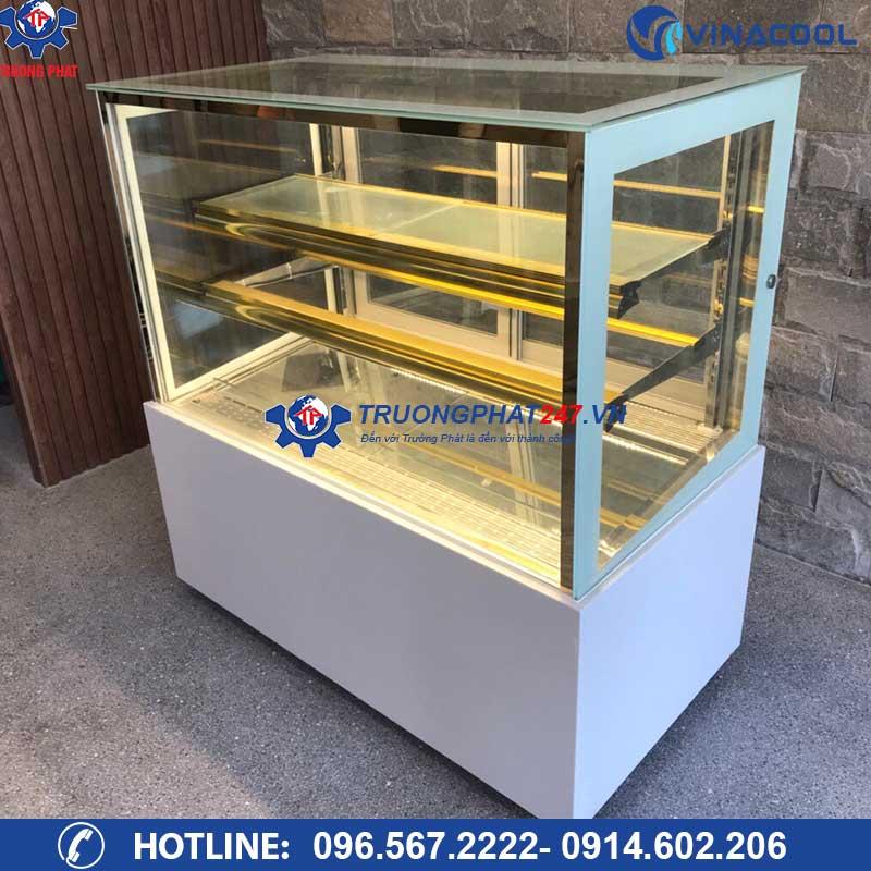 tủ bảo quản bánh ngọt 3 tầng kính vuong DZA-1200