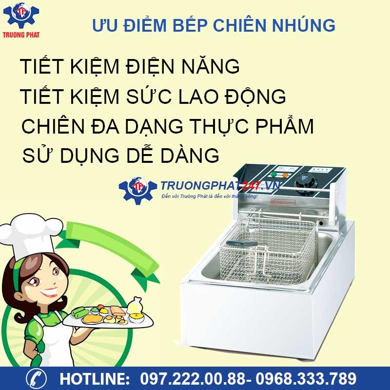 ưu điểm bếp chiên nhúng điện