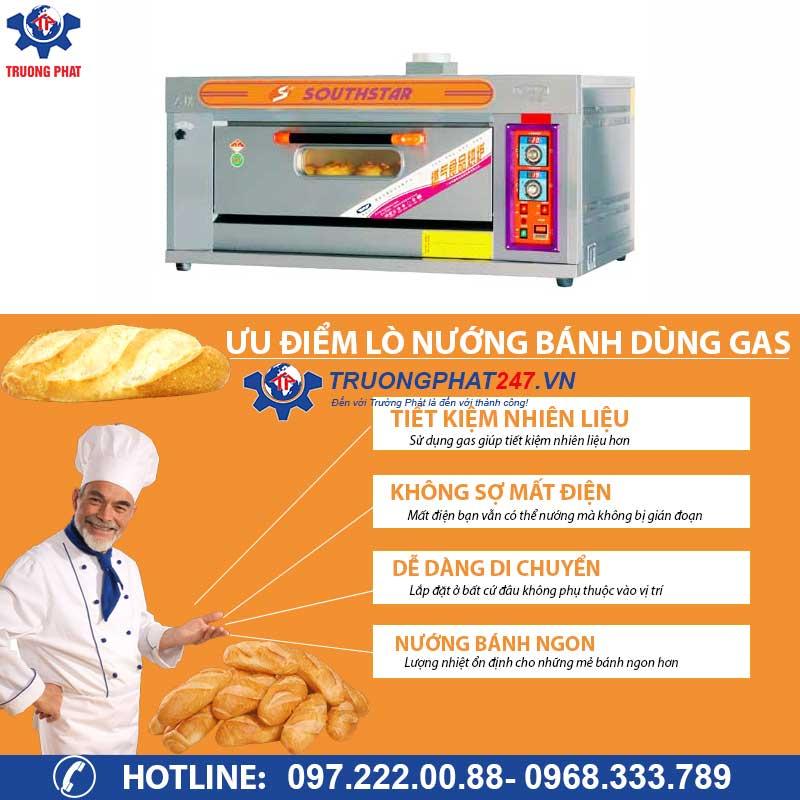 ưu điểm lò nướng bánh dùng gas