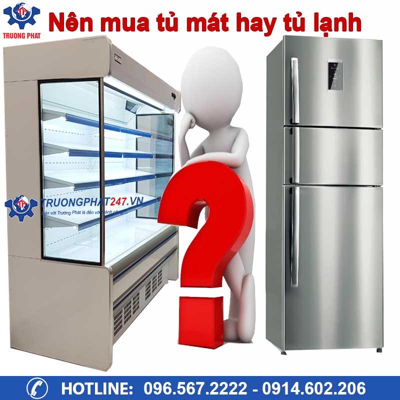 Giải đáp thắc mắc: Nên mua tủ mát hay tủ lạnh