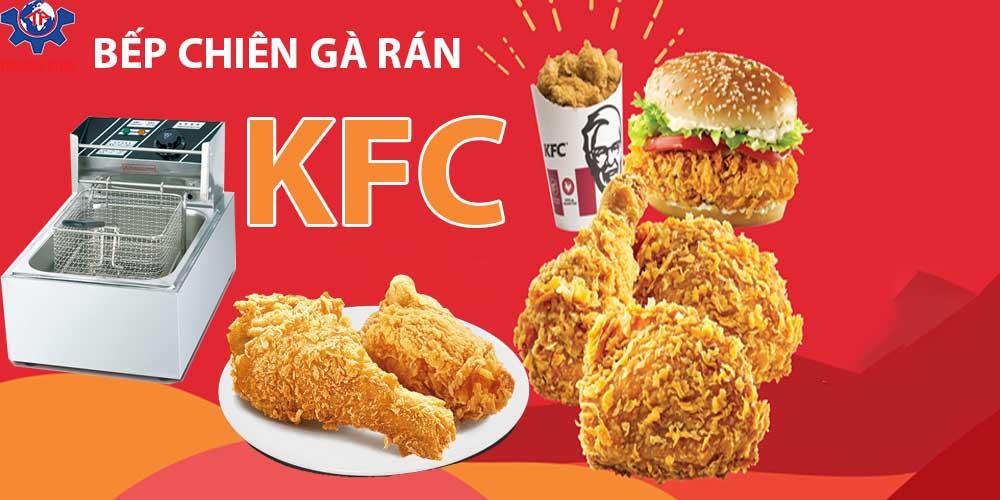 Bếp chiên gà rán KFC