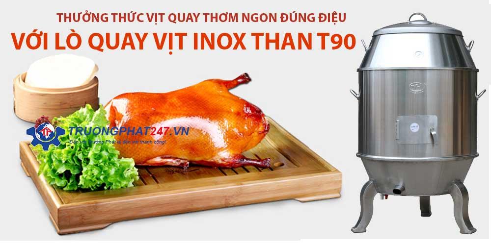 banner lò quay vịt inox t90