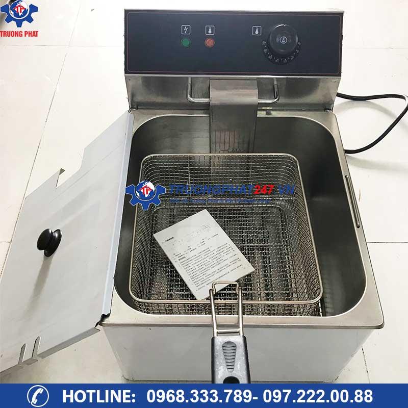 thùng dầu bếp chiên nhúng điện đơn