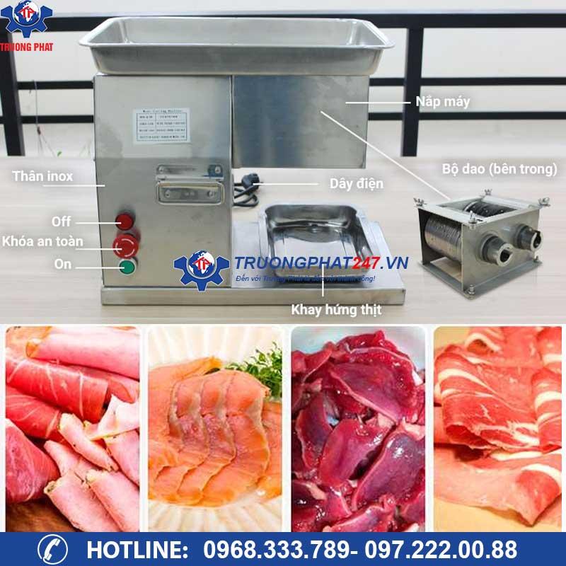 cấu tạo máy thái thịt tươi sống QX-250